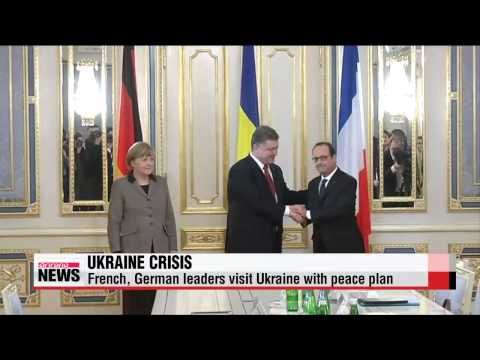 French, German leaders visit Ukraine with peace plan   올랑드 대통령-메르켈 총리, 평화안 들고 우크