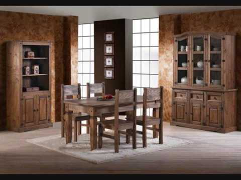 Muebles rusticos salon en mobles salvany youtube for Muebles vanitorios rusticos