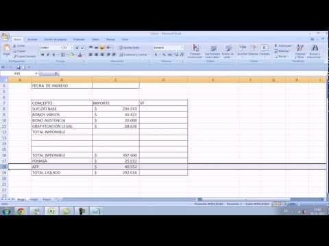 LIQUIDACIONES DE SUELDO Excel