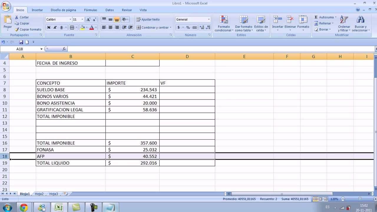 Comprobante De Pago En Excel