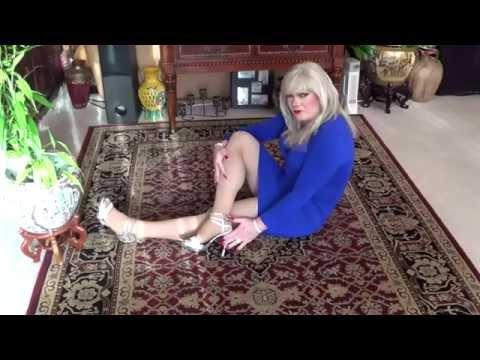 Tgirl Blue &amp  Silver Home  1 Of 3   Hd  Matty Caff Tgirl Crossdresser Transvestite