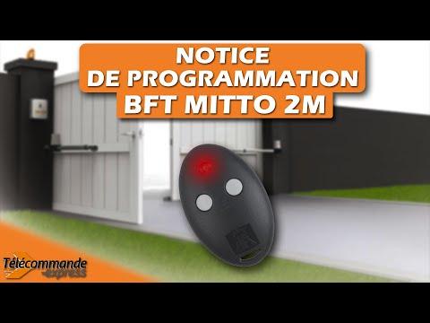 programmer une t l commande bft mitto 2m youtube. Black Bedroom Furniture Sets. Home Design Ideas