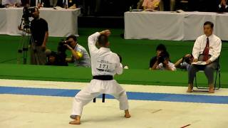 2010 JKA All Japan kata-champion Kurihara (Sochin)  栗原 壮鎮
