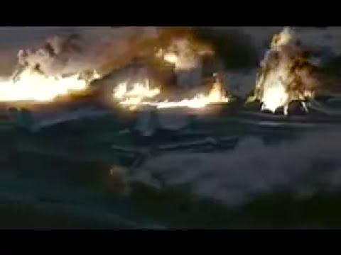 US aircarrier atack by bombers Tu-22. Aviones rusos atacando un portaaviones.