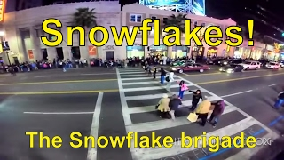 Cars Running Through Protesters on Hollywood Blvd
