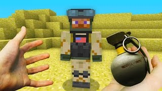REALISTIC MINECRAFT - STEVE JOINS THE ARMY! ?