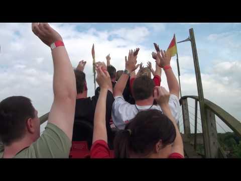 The Antelope Wooden Roller Coaster POV - Gulliver's World, Warrington, UK