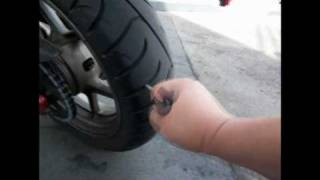 Repairing / Plugging A Motorcycle Tire 100409