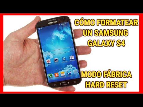 3 formas de resetear/restaurar a modo fabrica el Samsung Galaxy S4 - I9505