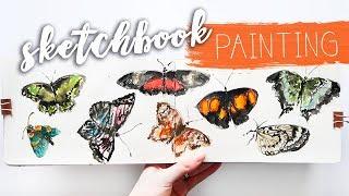 SKETCHBOOK PAINTING How To Fill Your Sketchbook | Katie Jobling Art