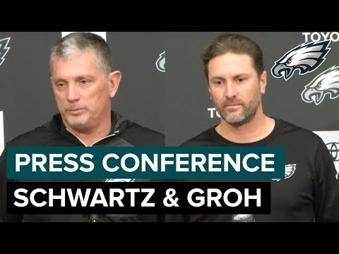 Schwartz & Groh on Nick Foles & Avonte Maddox Stepping Up | Eagles Press Conference