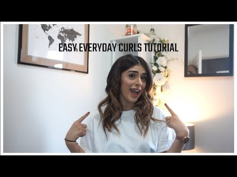 CHEAP, EASY AND BOUNCY HAIR CURLING TUTORIAL