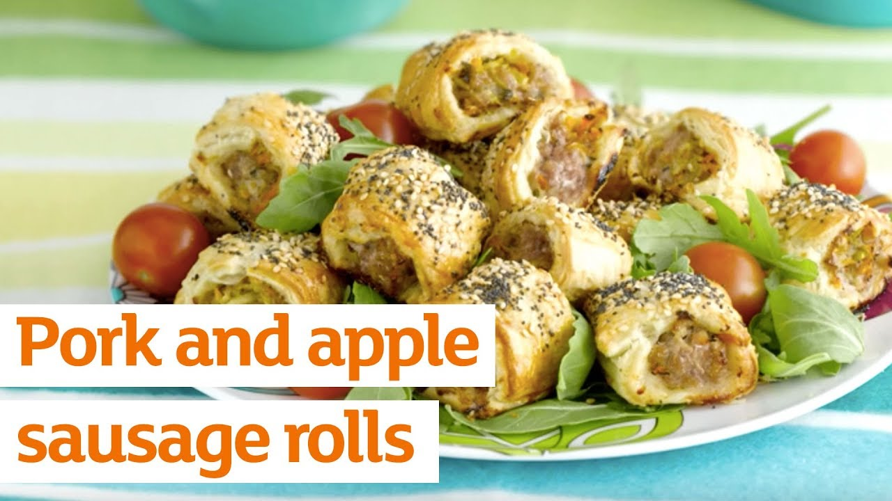 How To Make Pork Apple Sausage Rolls Youtube