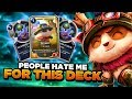 120 SHROOMS IN HIS CARDS! PEOPLE HATE ME FOR PLAYING THIS TEEMO DECK!   Legends Of Runeterra