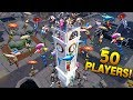 50 PLAYERS on Clock Tower! - Fortnite Funny WTF Fails and Daily Best Moments Ep.916