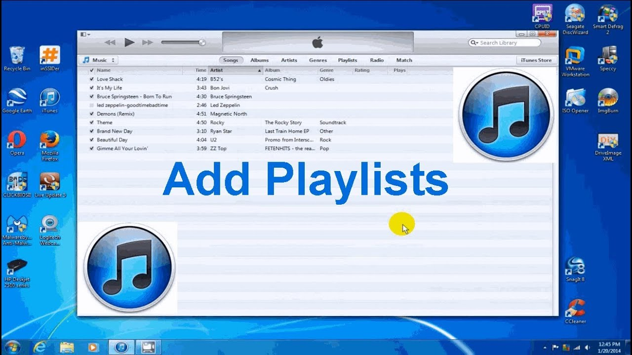 how to make palylist in itunes