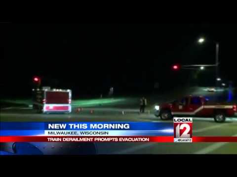 Two injured, diesel spilled in Wisconsin derailment