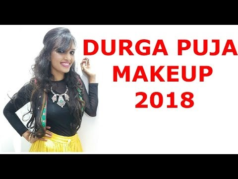 DURGA PUJA MAKEUP TUTORIAL 2018 | NAVRATRI MAKEUP 2018
