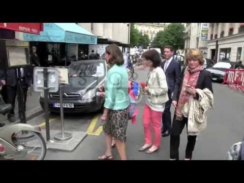 Francois Hollande Ex Wife Segolene Royal at RTL radio station in Paris