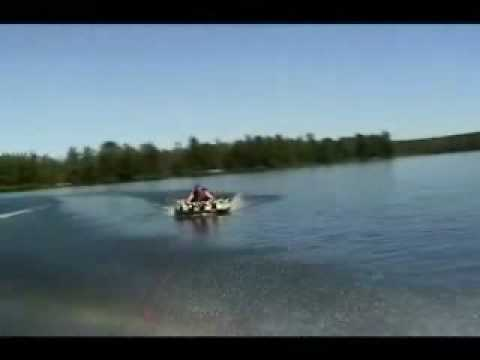 Inner Tubing and Knee Boarding on Lone Stone Lake Video