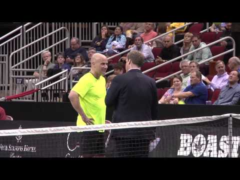 Agassi, Roddick, Courier and Blake - PowerShares Tennis Houston