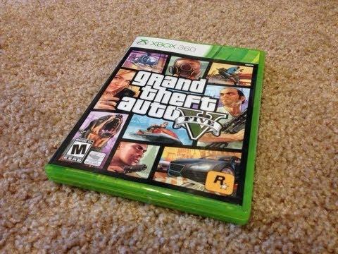 Xbox Slim 4gb Gta 5 Unboxing Gta 5 For Xbox 360
