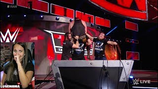 WWE Raw 10/9/17 The Shield meets Braun Strowman