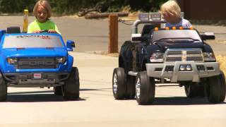 Power Wheels Truck Sidewalk Race
