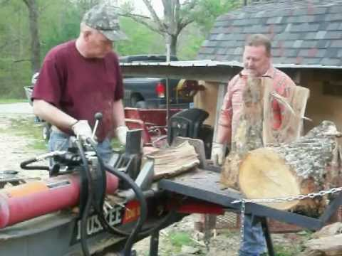 Huskee logsplitter with homemade log lift