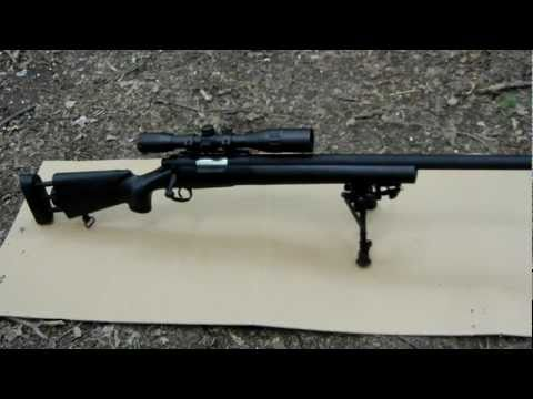 ECHO 1 M28 airsoft sniper rifle review and shooting