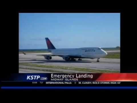 Delta Plane Makes Emergency Landing in the Pacific. www.AirCrashObserver.com
