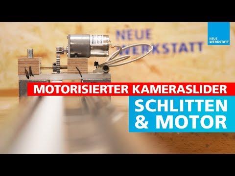 (2/4) Kameraslider für die Werkstatt selber bauen // Motor und Zahnräder anbringen