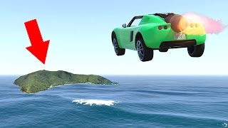 FLY 10 MILES WITH A ROCKET CAR! (GTA 5 Funny Moments)