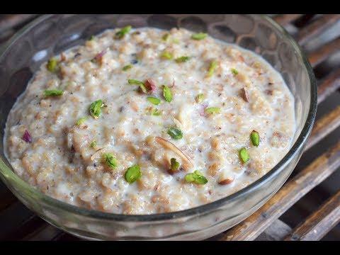 झटपट तैयार करे ये सुबह का healthy नाश्ता - Low Calories Breakfast - Oats Kheer Recipe - Recipeana