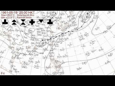The 1961 typhoon season with Hong Kong daily weather summaries