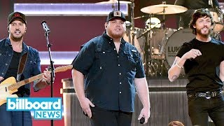 Luke Combs Gives Emotional 34 She Got The Best Of Me 34 Performance At 2018 Cma Awards Billboard News