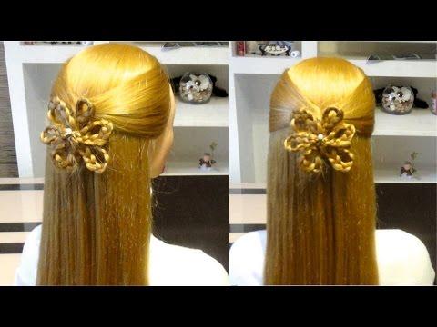 Прическа на 8 марта на средние волосы