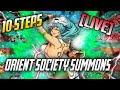 LIVE - 10 Steps - Orient Society Summons | Bleach Brave Souls