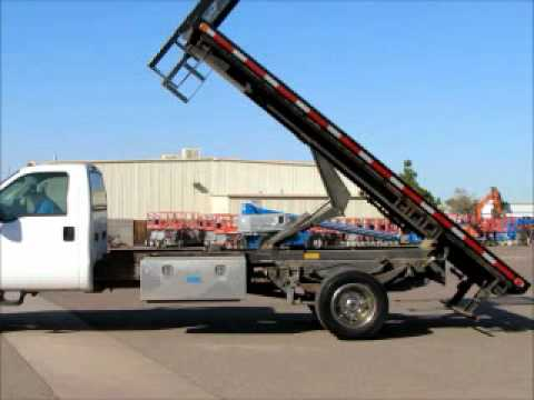 Sold 2000 Ford F550 16 Flatbed Dump Truck 7 3l Diesel 6
