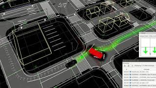 Autoware - Hybrid A*, dynamically avoiding (scenario 2)