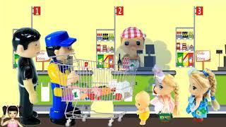 ChiChi ToysReview TV - Trò Chơi bé đi siêu thị và xử lý khi gặp người bắt cóc trẻ em