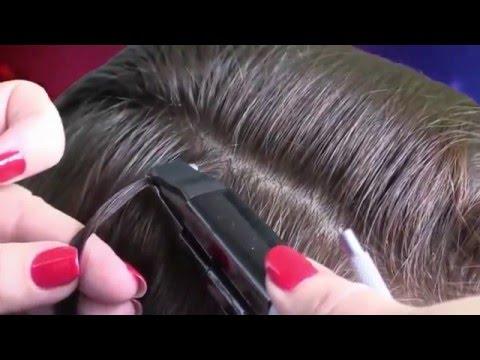 Видео по наращиванию волос кератиновое