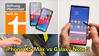 Test Apple iPhone XS & iPhone XS Max vs Samsung Galaxy Note 9 - welches versagt im Falltest?