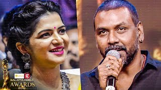 Raghava Lawrence MASS Entry at Galatta Debut Awards 2018