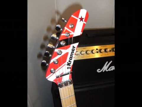 HOW TO PAINT A 5150 VAN HALEN GUITAR PROJECT EVH PART 3 OF 3