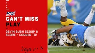 Devin Bush Scoop & Score + INT Leads to Conner TD!