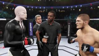 Slenderman vs. Khabib Nurmagomedov (EA sports UFC 2) - CPU vs. CPU