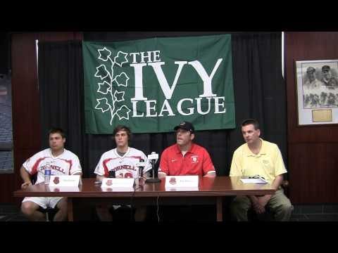 2013 Ivy League Men's Lacrosse Tournament: Cornell Press Conference