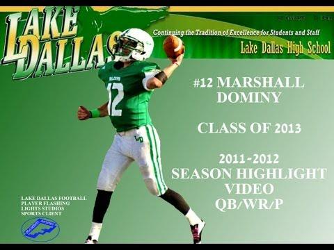 #12 MARSHALL DOMINY SENIOR 2013 | LAKE DALLAS HIGH SCHOOL