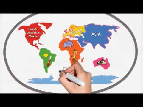 The Seven Continents Song  Silly School Songs